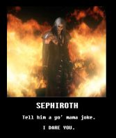 sephiroth motivational poster by GeGeZi
