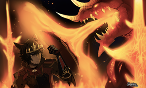 Edge and Ifrit by RikawawaArt