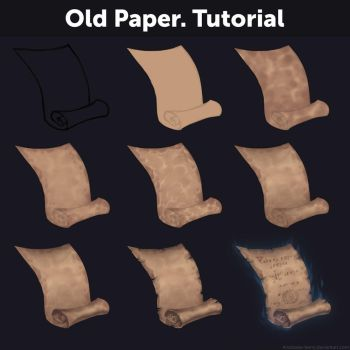Old Paper. Tutorial by Anastasia-berry