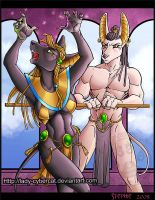 Albinus and Egyptian Were by lady-cybercat