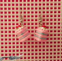 Cake Earrings by Hola-chan