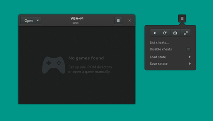 Visual Boy Advance (VBA-M) GTK+3 redesign by aldomann