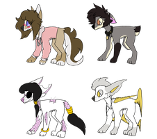 Some dog adopts by cabbitpatch