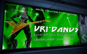 Uri'Danus concert advertising on the Citadel by Taleeze