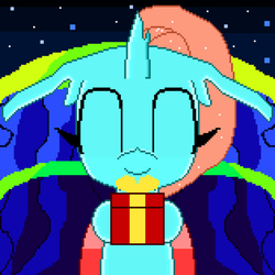 Exchanging Gifts with Ocellus(pixel art animation) by SuperHyperSonic2000