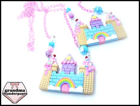 Large Candy Castle Necklace by GrandmaThunderpants