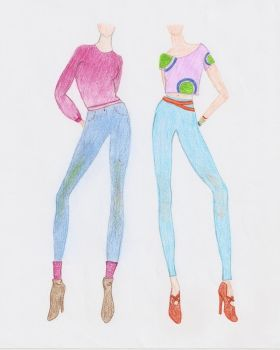 Fashion Design 3 and 4 by Elephants-on-Skates