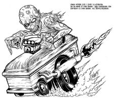 Zombie Hotrod by SavageSinister