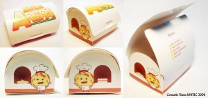 Packaging Mr. Arepa dessertbox by hktomoe