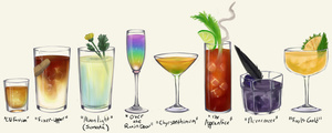 Maxwell's Cabaret Cocktails Menu by silver-dragonetsu