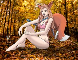 Forest Kitsune by TheGreenCount