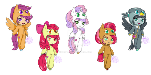 MLP kigurumi set no.3 CMC! by kar-tilki