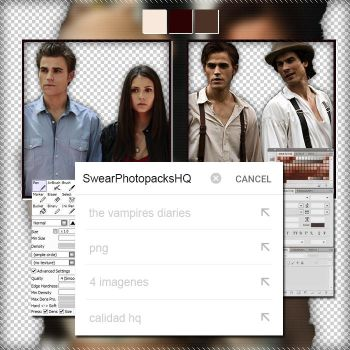 Pack PNG 285: The Vampires Diaries by SwearPhotopacksHQ
