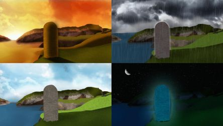 ::Animation:: Celtic cliffs animated by Nomad-flicker
