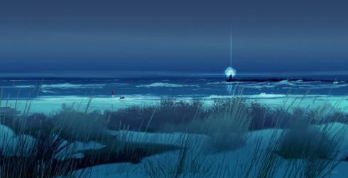 Walking on the beach at night. by PascalCampion