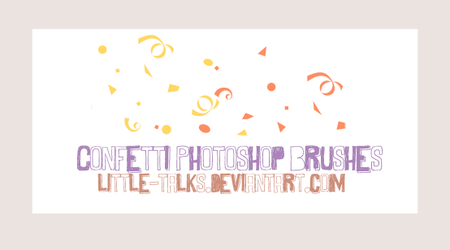 Confetti Photoshop Brushes by little-talks