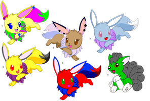 Pokemon adoptables by The-Orphanage