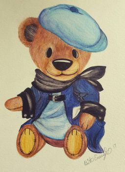 Percy the bear  by Polkadotdiva