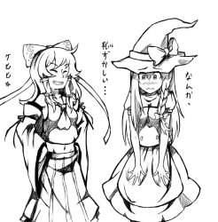 Reimu and Marisa by BakaDuck