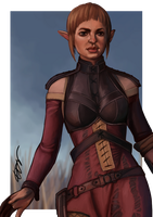 Dragon Age Inquisition Sera The Red Jenny by dreNerd