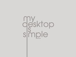 my desktop is simple... v2 by CajeFM