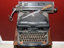 dusty Typewriter in my house by remdesigns