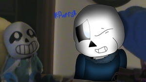 Night Terror Sans Being Petted by Me by cjc728