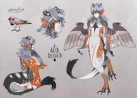 Zebra Finch Harpy Adopt CLOSED by BeSSeB