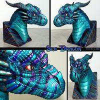 Sea Dragon Bust by DragonosX