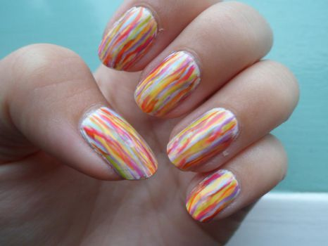 Simple Colorful Nail Art by xRixt