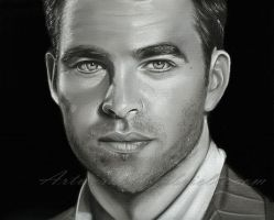 Chris Pine Drawing by gabbyd70