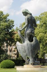 Leda and the Swan 2 by DelphineHaniel