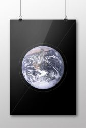 GRAVITY poster mock-up by evusha