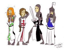The Knights... again by pythonorbit