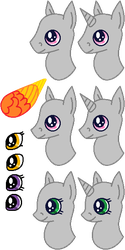 Pony Headshot Template by gelertyfun4every1