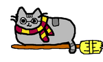 Harry Potter Pusheen (drew this a year ago :3) by pipa00