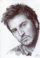 Luke Bryan - Pen and ink - Portrait by NateMichaels