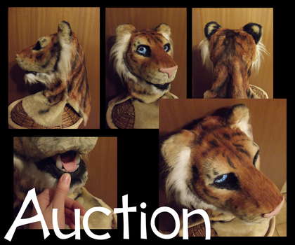 AUCTION - Tiger fursuit head by Silenthowl7