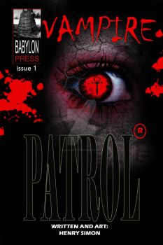 Frontcover for my next series Vampire patrol by simon-artist
