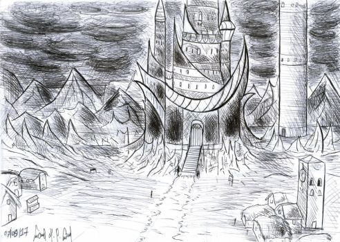 Exaydras Castle (Concept Art) by luciano6254