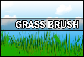 Grass Brush by Faeth-design