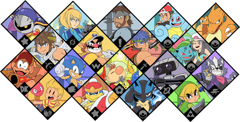 Super Smash Bros. Ultimate - Brawl Fighters by Zieghost