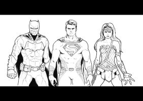 BATMAN V SUPERMAN: Dawn Of Justice - Sketch by Nezotholem