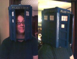 Tardis Hat of SHEER AWESOME by KaiserFlames