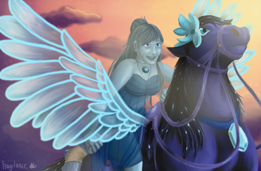 Blue Topaz and Cora (Contest Entry) (OCS NOT MINE) by Fragilance