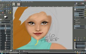 Ninja Aiclo Day 5 - Face WIP by Aiclo
