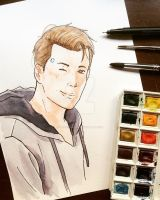Watercolor Connor by SassyDreamer95