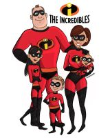 The Incredibles by Inkstandy