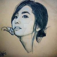 Park Min Young Drawing by Da2Software