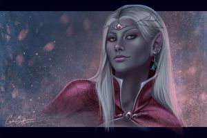 Drow Portrait by CarrieBest